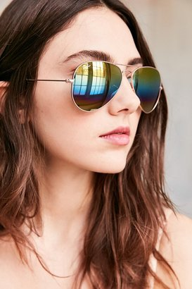 Ray-Ban Mineral Lens Aviator Sunglasses $175 thestylecure.com