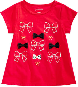 First Impressions Toddler Girls Bows-Print Cotton T-Shirt