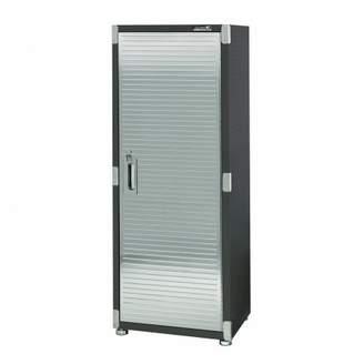 Seville Classics UltraHD Commercial Heavy-Duty Tall Storage Cabinet, Satin Graphite