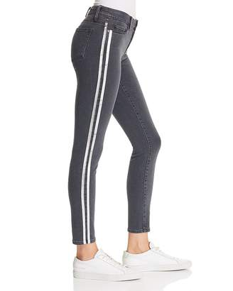 e9ff4bad943a Paige Verdugo Ankle Skinny Jeans in Faded Black with Silver Tux Stripe -  100% Exclusive