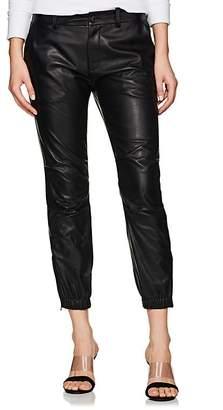 "Nili Lotan Women's ""French Military"" Crop Leather Pants"