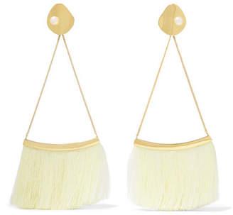 Cornelia Webb - Gold-plated Pearl And Silk Earrings