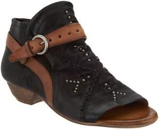 Miz Mooz Leather Peep Toe Booties - Caitlin