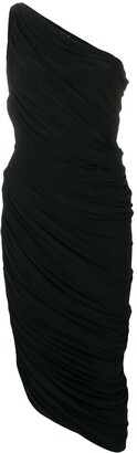 Norma Kamali fitted one-shoulder dress