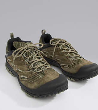 Merrell Chameleon 7 Limit hiking festival sneakers in olive