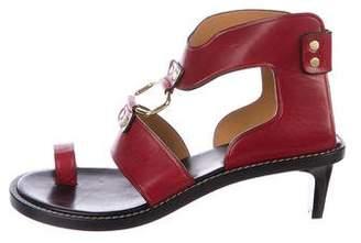 Isabel Marant Leather Toe-Strap Sandals