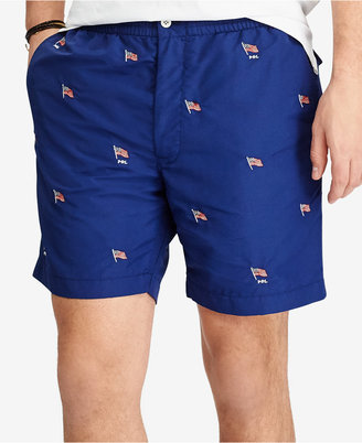 "Polo Ralph Lauren Men's 6"" Embroidered Swim Trunks $75 thestylecure.com"
