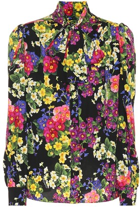 Dolce & Gabbana Floral silk-blend blouse