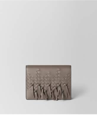 Bottega Veneta Steel Intrecciato Brio Chain Wallet