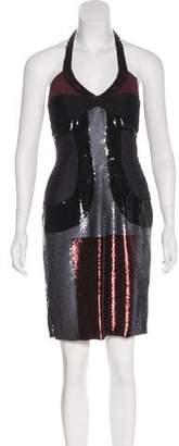 Versace Halter Sequin Dress w/ Tags