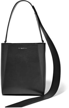 Calvin Klein Buck Stripe Small Leather Shoulder Bag - Black