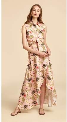 Miguelina Ballerina Linen Wrap Skirt - Limited-Edition Tropical Lemonade Print