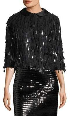 Marc Jacobs Sequin Three-Quarter Sleeve Jacket