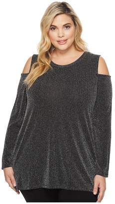 MICHAEL Michael Kors Size Sparkle Long Sleeve Cold Shoulder Women's Clothing
