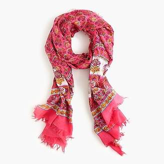 J.Crew Lightweight cotton scarf in calypso block print
