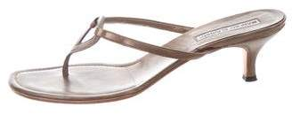 Manolo Blahnik Leather Thong Sandals