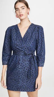Rebecca Taylor Long Sleeve Faune Denim Dress