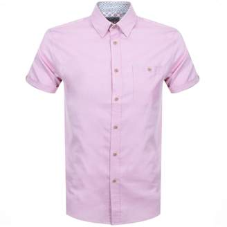 4218835abf9e Ted Baker Short Sleeved Wallabi Oxford Shirt Pink