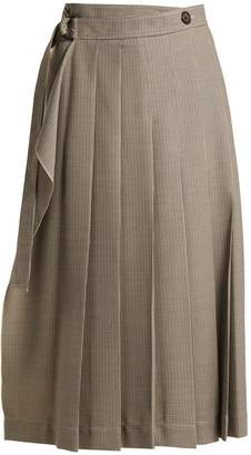 Joseph Fleet pleated houndstooth skirt
