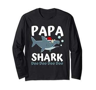 Papa Shark Long Sleeve Shirt Christmas Family Shark Pajamas
