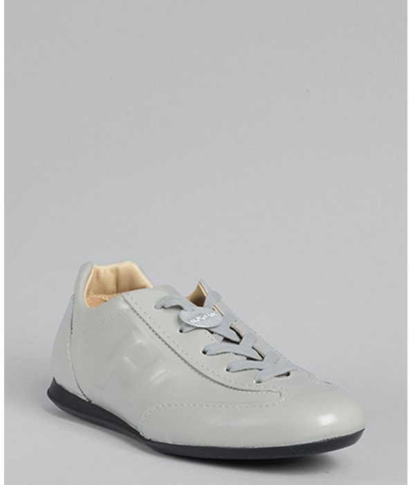 Hogan grey leather 'Olympia' sneakers