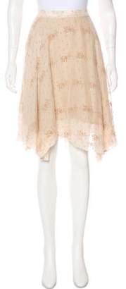 Billy Reid Silk A-Line Skirt