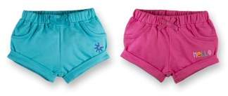 Lamaze Organic French Terry Shorts, 2pk (Baby Girls)