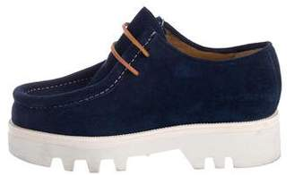 DSQUARED2 Suede Round-Toe Oxfords