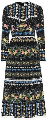 Erdem Georgie printed silk crepe dress