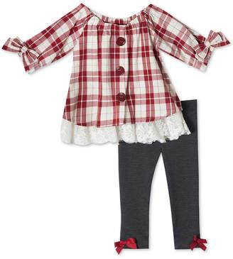 Rare Editions Baby Girls 2-Pc. Plaid Tunic & Leggings Set