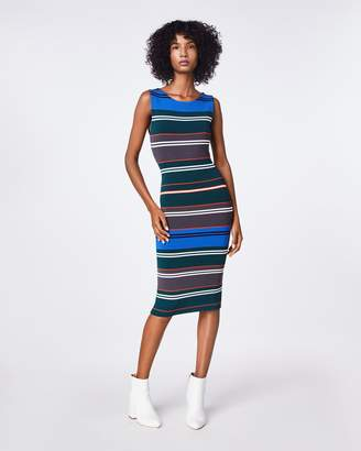 Nicole Miller Knit Stripe Boat Neck Dress