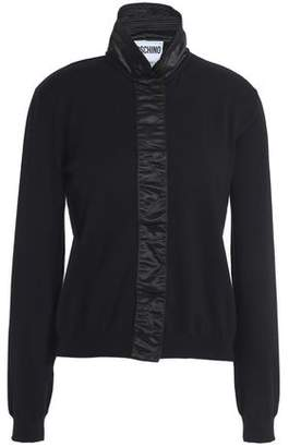 Moschino Satin-Trimmed Wool Cardigan