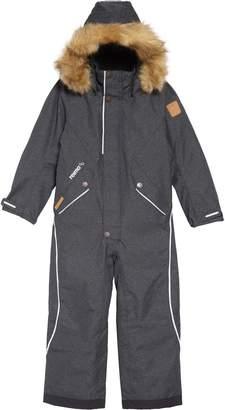 Reima Vuoret Reimatec(R) Waterproof Insulated Snow Suit with Faux Fur Trim