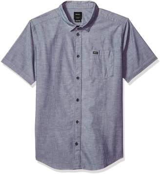 RVCA Men's Arrows Short Sleeve Woven Shirt