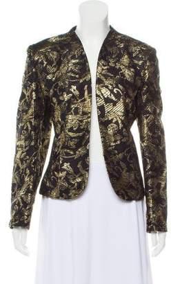Valentino Textured Metallic Print Blazer