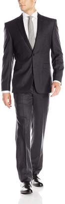 Vince Camuto Men's Flannel 2 Button Slim Fit Suit