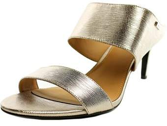 Calvin Klein Cecily Women Open Toe Leather Sandals.