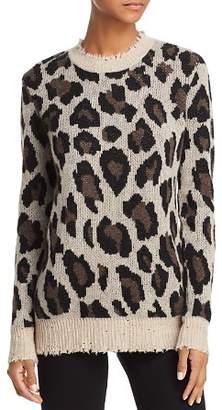 Aqua Animal Print Cashmere Sweater - 100% Exclusive