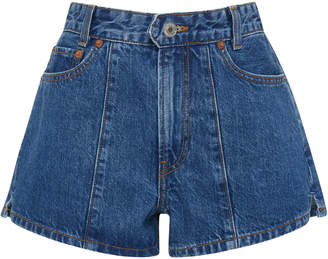 Solid & Striped + RE/DONE Venice Pintucked Denim Shorts