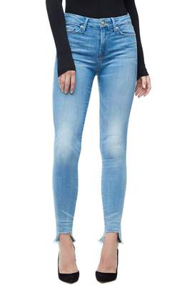 Good American Good Waist Crop Tunnel Hem Jeans - Blue130
