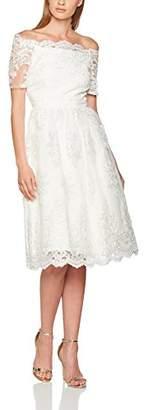 Dorothy Perkins Women's Aravella Bardot Lace Midi Bridal Dress