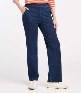 L.L. Bean L.L.Bean Perfect Fit Pants, Straight-Leg Denim