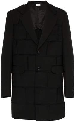 Comme des Garcons rectangular panel wool coat
