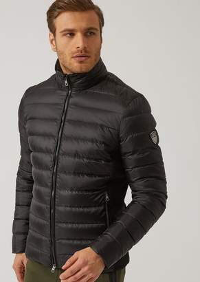 Emporio Armani Ea7 Quilted Down Jacket With Full Zip Fastening