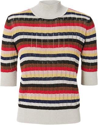 Sonia Rykiel Lurex Multi-Striped Top