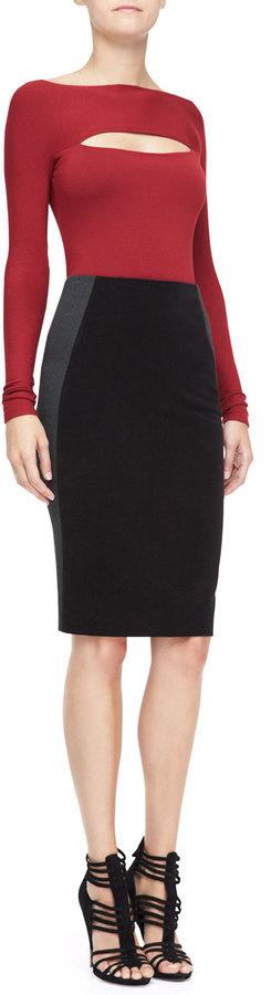 Donna Karan Combo Pencil Skirt