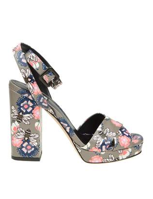 Furla gioia Sandal In Printed Leather