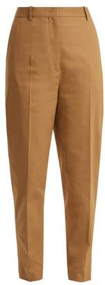 Jil Sander Egbert Cotton Blend Trousers - Womens - Light Brown
