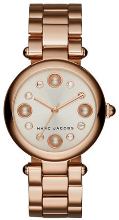 Marc Jacobs Marc Jacobs Crystal & Pearl Hour Marker Bracelet Watch