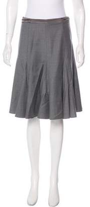 Emilio Pucci Virgin Wool Pleated Skirt
